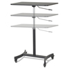 Victor Victor® DC500 High Rise™ Collection Mobile Adjustable Standing Desk VCT DC500