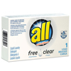 cleaning chemicals, brushes, hand wipers, sponges, squeegees: All® Free Clear HE Liquid Laundry Detergent Vend-Box