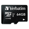 memory card: Verbatim® microSDXC Card with SD Adapter