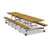 Virco Virco® Folding Mobile Table With Attached Seating VIR MTBH12091