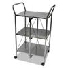 hospitality carts: Vertiflex™ Click-N-Fold Dual Handle Service Cart