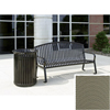 Wausau Tile Bench with arched back WAU MF2201BE