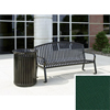 Wausau Tile Bench with arched back WAU MF2201FG