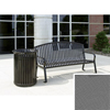 Benches Metal Benches: Wausau Tile - Bench with arched back