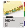Wilson Jones Wilson Jones® Single-Sided Reinforced Insertable Tab Index WLJ 54309