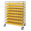 Quantum Storage Systems Catheter Cart With Bins QNT WRC9-63-2448-105YL