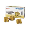 Xerox Xerox 108R00725 Solid Ink Stick, 3400 Page-Yield, 3/Box, Yellow XER108R00725