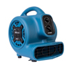 XPOWER 1/4 HP 925 CFM Multi-Purpose Mini Mighty Air Mover, Utility Fan, Dryer, Blower with Built-in Power Outlets and Timer XPO P-230AT-Blue