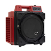 XPOWER Commercial 3 Stage Filtration HEPA Purifier System, Negative Air Machine, Airbourne Air Cleaner, Mini Air Scrubber with Built-in Power Outlets - Red XPO X-2480A-Red