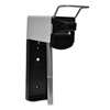 soaps and hand sanitizers: Heavy Duty Hand Care Wall Mount System, Aluminum, Black-Chrome