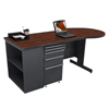Marvel Group Teachers Conference Desk w/Bookcase MLG ZTCB7530-DT-FM