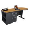 Marvel Group Teachers Conference Desk w/Bookcase MLG ZTCB7530-DT-SO