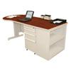 Marvel Group Teachers Conference Desk w/Bookcase MLG ZTCB7530-UT-CC