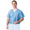 Medline Disposable V-Neck Scrub Shirt Blue, XXL(case of 30) MED NON27202XXL