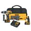 DeWalt 20V MAX Cordless Combo Kits, 1/2 Hammer Drill; 1/4 In Impact Driver DEW115-DCK292L2