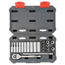Cooper Hand Tools Crescent 22 Piece Drive Socket Wrench Set, 1/4 In Metric, Standard And Deep, 6 Point ORS192-CSWS3