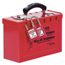 Master Lock Group Lock Box, 9 1/4 In L X 6 In H X 3 3/4 In W, Steel, Red MLK470-498A