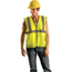 OccuNomix Economy Single Band Vest OCC561-LUX-SSG-YXL