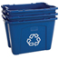 Rubbermaid Commercial Recycling Boxes RCP640-5714-73-BLUE