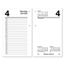 At A Glance Desk Calendar Refill, 3 1/2 x 6, White, 2019 AAGE71750