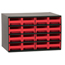 Akro-Mils 16-Drawer Storage Hardware and Craft Organizer AKR19416RED