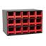 Akro-Mils 15-Drawer Storage Hardware and Craft Organizer AKR19715RED