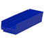 Akro-Mils 18 inch Nesting Shelf Bin Box AKR30138BLUECS