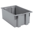 Akro-Mils 19.5 inch Nest & Stack Totes AKR35200GREYCS