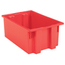 Akro-Mils 19.5 inch Nest & Stack Totes AKR35200REDCS