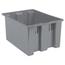 Akro-Mils 23.5 inch Nest & Stack Totes AKR35225GREYCS