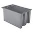 Akro-Mils 29.5 inch Nest & Stack Totes AKR35300GREYCS