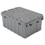 Akro-Mils Attached Lid Containers AKR39085GREYCS