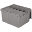 Akro-Mils Attached Lid Container AKR39175GREYCS