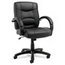 Alera Alera® Strada Leather Mid-Back Swivel/Tilt Chair ALESR42LS10B