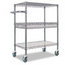 Alera Alera® Wire Shelving Three-Tier Rolling Cart ALESW543018BA