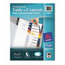 Avery Avery® Ready Index® Translucent Multicolor Table of Contents Dividers AVE11818