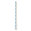 Susty Party Light Blue Striped Straws BFG60396