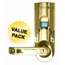 iTouchless Bio-Matic™ Fingerprint Door Lock Gold - Left Handle ITOBM001LCS