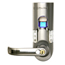 iTouchless Bio-Matic™ Fingerprint Door Lock Silver - Left Handle ITOBM003LEA