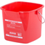Carlisle 3 qt Square Steri-Pail - Red CFS1182805CS