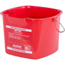 Carlisle 8 qt Square Steri-Pail - Red CFS1183005CS