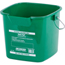 Carlisle 3 qt Square Suds-Pail - Green CFS1183109CS