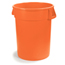 Carlisle 10 Gal Bronco Trash Can - Orange CFS34101024CS