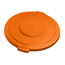 Carlisle 10 Gal Bronco Round Lid - Orange CFS34101124CS