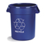 Carlisle Bronco™ Round Recycling Cans - 32 Gallon Capacity CFS341032REC14CS