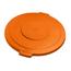 Carlisle 32 Gal Bronco Round Lid - Orange CFS34103324CS