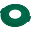 Carlisle Bronco™ Round Green Recycling Lids with Hole for Cans CFS341021REC09CS
