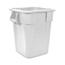 Carlisle Bronco™ Square Waist Container 40 gal - White CFS34154002CS