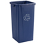 Carlisle Centurian™ Tall Square Recycle Container CFS343523REC14CS
