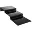 "Carlisle 11-3/4"" 3 Step Polycarbonate Riser - Black CFS684303CS"
